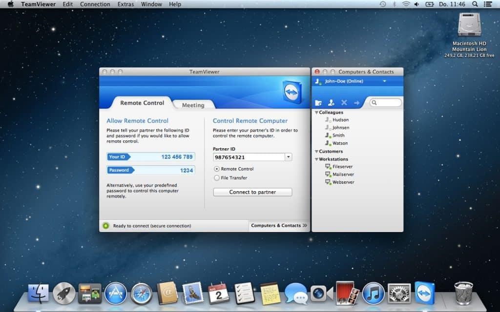Установить TeamViewer для Mac